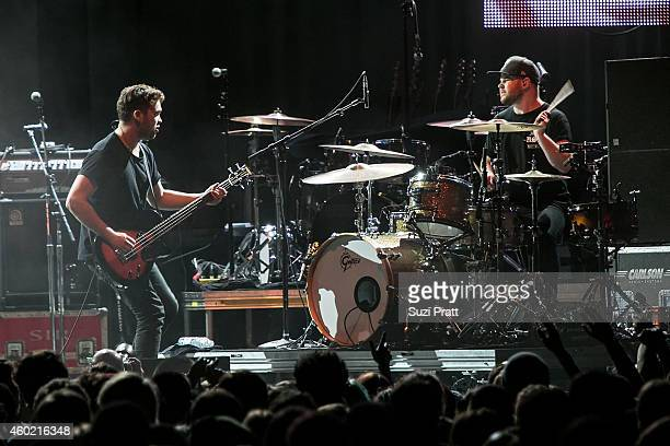 Michael Kerr and Ben Thatcher of Royal Blood performs at Deck the Hall Ball at Key Arena on December 9 2014 in Seattle Washington