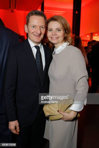 Michael Kessler and Annette Frier attend the German Television Award at Rheinterrasse on February 2 2017 in Duesseldorf Germany