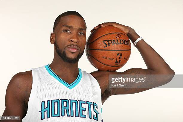 Michael KiddGilchrist of Charlotte Hornets poses for Media Day Portraits at the Time Warner Cable Arena on September 26 2016 in Charlotte North...