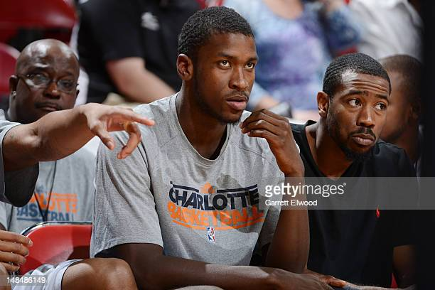 Michael KiddGilchrist of the Charlotte Bobcats looks on against the Minnesota Timberwolves during NBA Summer League on July 17 2012 at the Thomas...