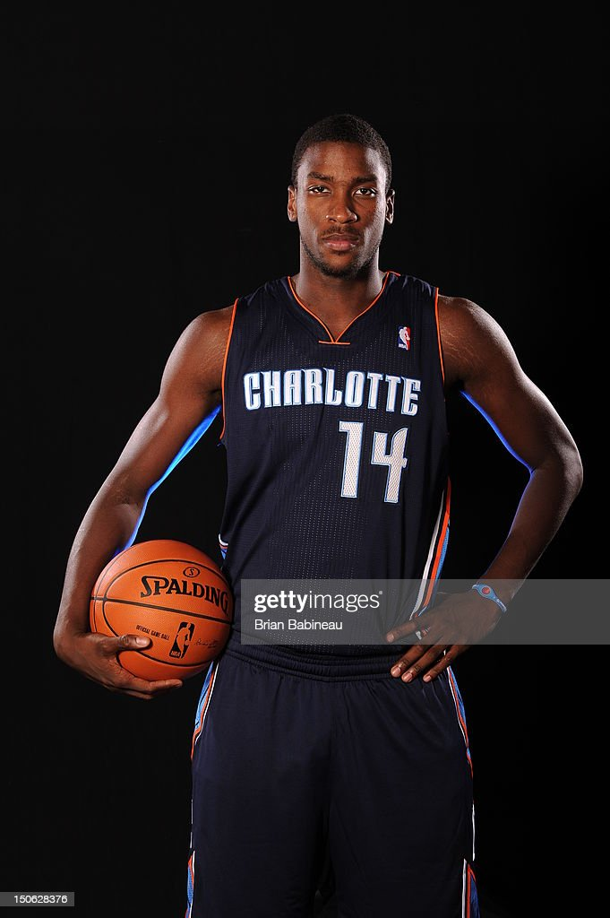 Michael Kidd-GilChrist of the Charlotte Bobcats poses for a portrait during the 2012 NBA rookie photo shoot on August 21, 2012 at the MSG Training Facility in Tarrytown, New York.