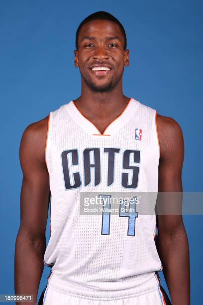 Michael KiddGilchrist of the Charlotte Bobcats poses for media day at the Time Warner Cable Arena on September 20 2013 in Charlotte North Carolina...