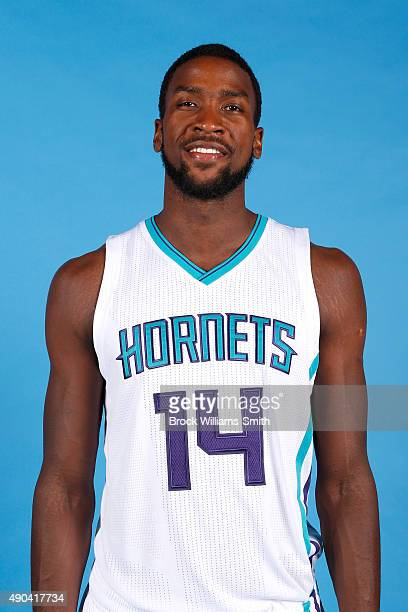 Michael KiddGilchrist of the Charlotte Hornet poses for media day at the Time Warner Cable Arena on February 4 2015 in Charlotte North Carolina NOTE...
