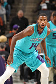 Michael KiddGilchrist of the Charlotte Hornets during the game against the San Antonio Spurs at the Time Warner Cable Arena on January 14 2015 in...