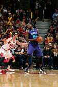 Michael KiddGilchrist of the Charlotte Hornets handles the ball against the Chicago Bulls on October 19 2014 at United Center Chicago Illinois NOTE...