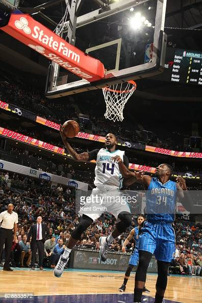Michael KiddGilchrist of the Charlotte Hornets handles the ball against the Orlando Magic on December 9 2016 at Spectrum Center in Charlotte North...