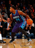 Michael KiddGilchrist of the Charlotte Hornets in action against the New York Knicks at Madison Square Garden on November 2 2014 in New York City The...