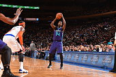 Michael KiddGilchrist of the Charlotte Hornets looks to pass the ball against the New York Knicks November 2 2014 at Madison Square Garden in New...