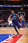 Michael KiddGilchrist of the Charlotte Hornets looks to pass the ball against the Philadelphia 76ers on December 19 2014 at Wells Fargo Center in...