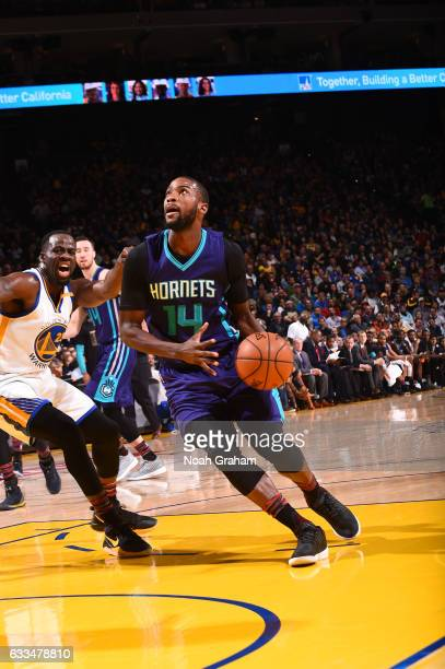 Michael KiddGilchrist of the Charlotte Hornets looks to shoot the ball during a game against the Golden State Warriors on February 1 2017 at ORACLE...