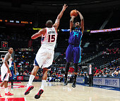 Michael KiddGilchrist of the Charlotte Hornets puts up a shot against the Atlanta Hawks on October 20 2014 at Philips Arena in Atlanta Georgia NOTE...