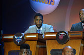 Michael KiddGilchrist of the Charlotte Hornets represents during the 2015 NBA Draft Lottery on May 19 2015 at the New York Hilton Midtown in New York...