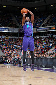 Michael KiddGilchrist of the Charlotte Hornets shoots against the Sacramento Kings on March 20 2015 at Sleep Train Arena in Sacramento California...
