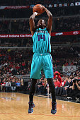 Michael KiddGilchrist of the Charlotte Hornets takes a shot against the Chicago Bulls on March 23 2015 at the United Center in Chicago Illinois NOTE...