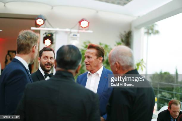 Michael Kives and Arnold Schwarzenegger attend a dinner hosted by Jamie Reuben Michael Kives with Arnold Schwarzenegger to celebrate JeanMichel...