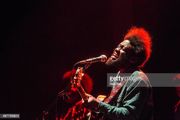 Michael Kiwanuka of Alabama Shakes performs in concert at O2 Academy Brixton on November 18 2015 in London England