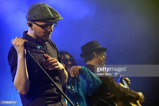 Michael Klimas of the Soehne Mannheims performs during a concert at Columbiahalle on March 19 2014 in Berlin Germany