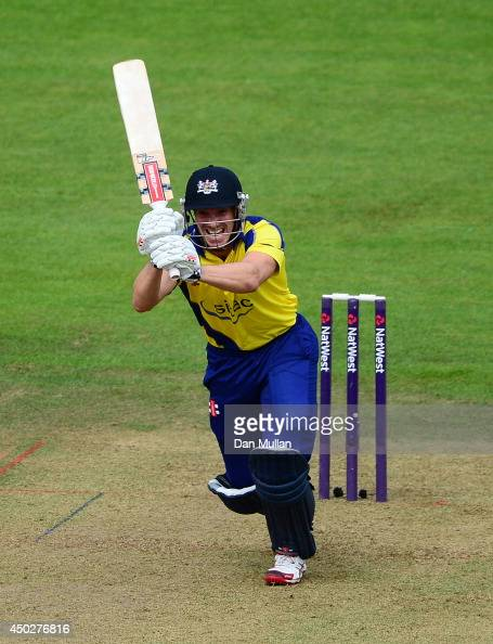 Michael Klinger of Gloucestershire bats during the NatWest t20 Blast match between Gloucestershire and Glamorgan at The County Ground on June 8 2014...