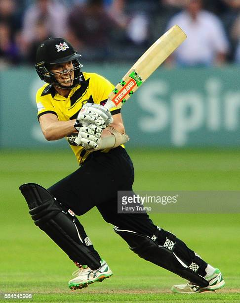 Michael Klinger of Gloucestershire bats during the Natwest T20 Blast match between Gloucestershire and Middlesex at The Brightside Ground on July 29...