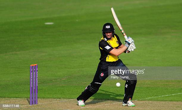 Michael Klinger of Gloucestershire bats during the Royal London One Day Cup match between Glamorgan and Gloucestershire at the SWALEC Stadium on June...