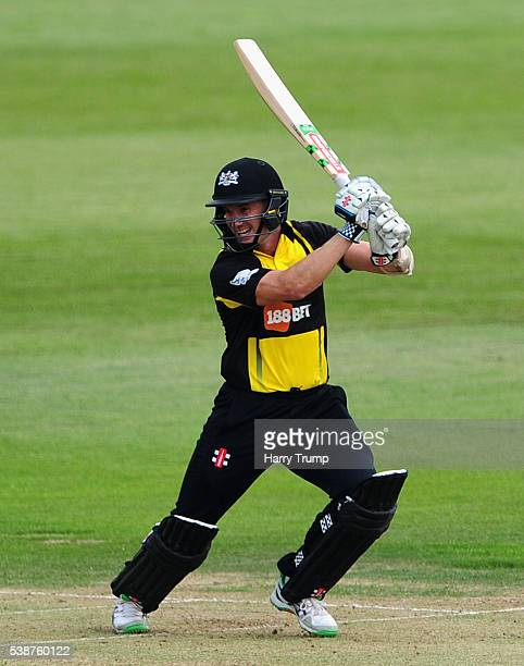 Michael Klinger of Gloucestershire hits out during the Royal London One Day Cup match between Gloucestershire and Middlesex at the Brightside Ground...