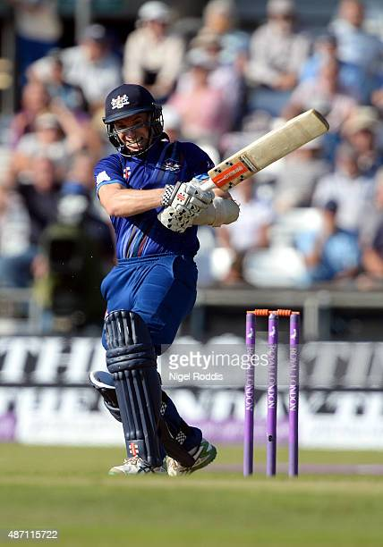 Michael Klinger of Gloucestershire in action during the Royal London OneDay Cup Semi Final between Yorkshire Vikings and Gloucestershire at...