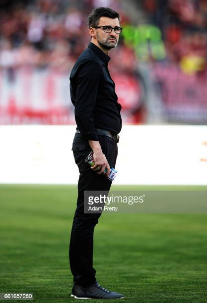 Michael Koellner head coach of 1FC Nuernberg before the Second Bundesliga match between 1 FC Nuernberg and Karlsruher SC at Arena Nuernberg on March...