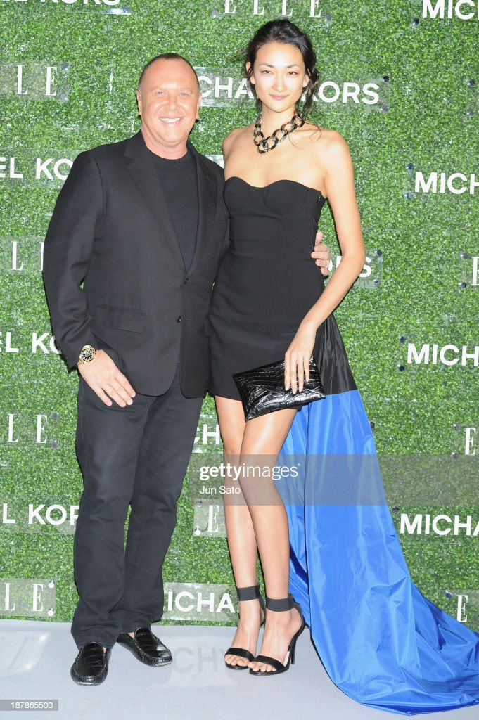 <a gi-track='captionPersonalityLinkClicked' href=/galleries/search?phrase=Michael+Kors+-+Fashion+Designer&family=editorial&specificpeople=4289231 ng-click='$event.stopPropagation()'>Michael Kors</a> (L) and <a gi-track='captionPersonalityLinkClicked' href=/galleries/search?phrase=Ai+Tominaga&family=editorial&specificpeople=3023646 ng-click='$event.stopPropagation()'>Ai Tominaga</a> attend '<a gi-track='captionPersonalityLinkClicked' href=/galleries/search?phrase=Michael+Kors+-+Fashion+Designer&family=editorial&specificpeople=4289231 ng-click='$event.stopPropagation()'>Michael Kors</a> and Miranda Kerr Celebrate Elle Japon December Cover' party (#MKTOKYO) at the Gallery of Horyuji Treasures of the Tokyo National Museum on November 13, 2013 in Tokyo, Japan.