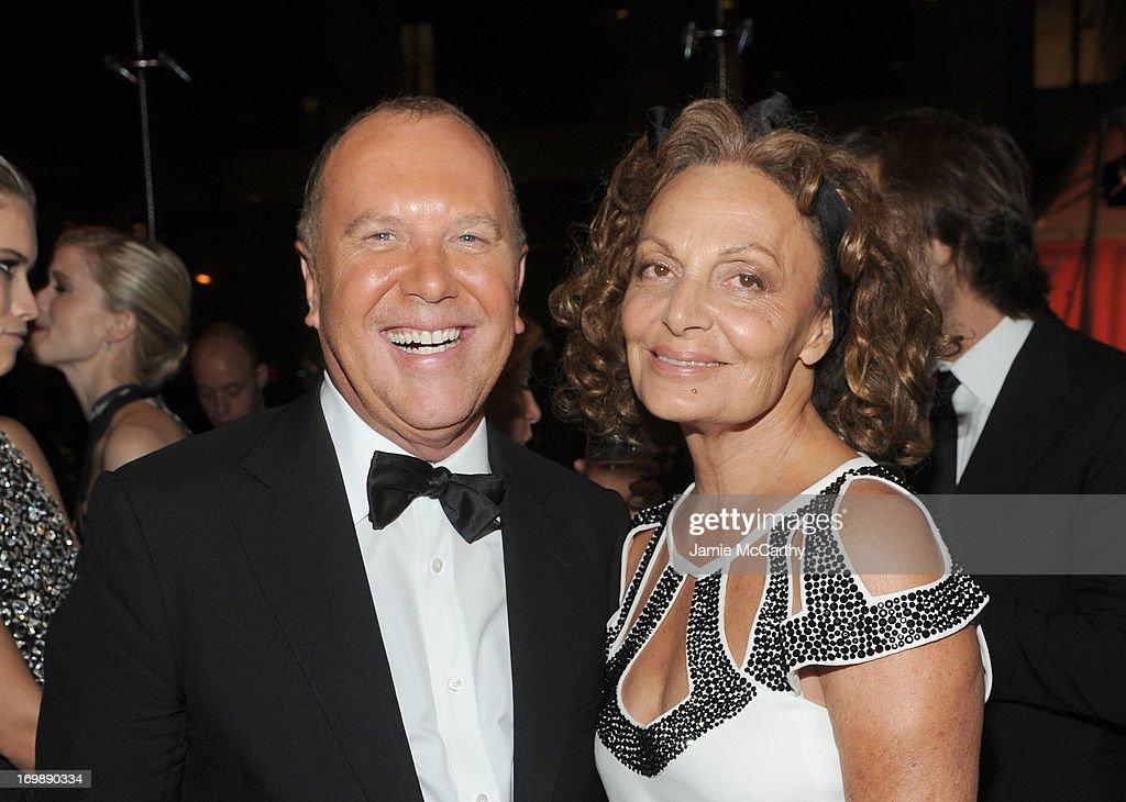 Michael Kors and Diane Von Furstenberg attend the 2013 CFDA Fashion Awards on June 3, 2013 in New York, United States.