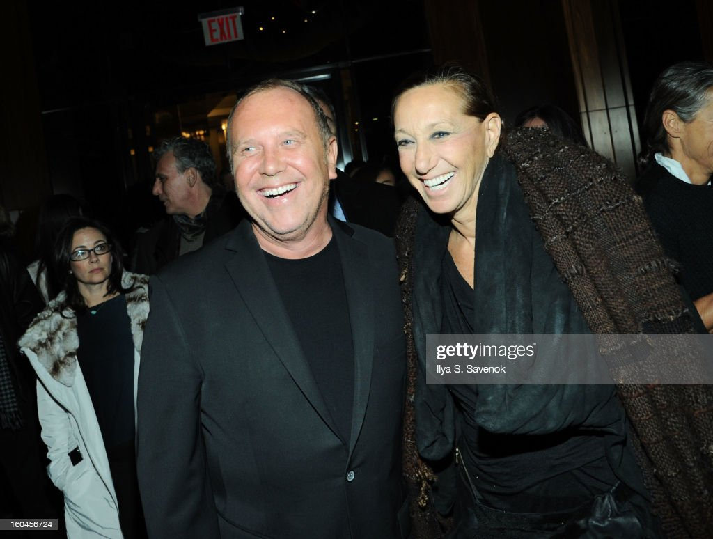 Michael Kors and Donna Karan attend the after party for the premiere of 'Side Effects' hosted by Open Road with The Cinema Society and Michael Kors...