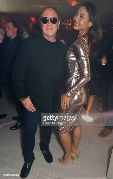 Michael Kors and Emma McQuiston Viscountess of Weymouth attends Tatler's English Roses 2017 in association with Michael Kors at the Saatchi Gallery...