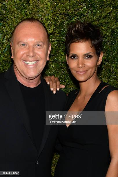 Michael Kors and Halle Berry attend a dinner in honor of Halle Berry as she joins Michael Kors and the United Nations World Food Programme to help...