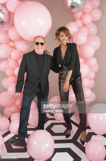 Michael Kors and Jourdan Dunn attend Tatler's English Roses 2017 in association with Michael Kors at the Saatchi Gallery on June 29 2017 in London...