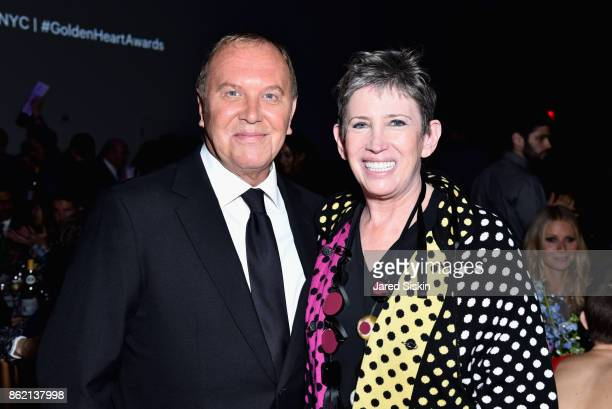 Michael Kors and Laurie Tisch attends The 11th Annual Golden Heart Awards Benefiting God's Love We Deliver at Spring Studios on October 16 2017 in...