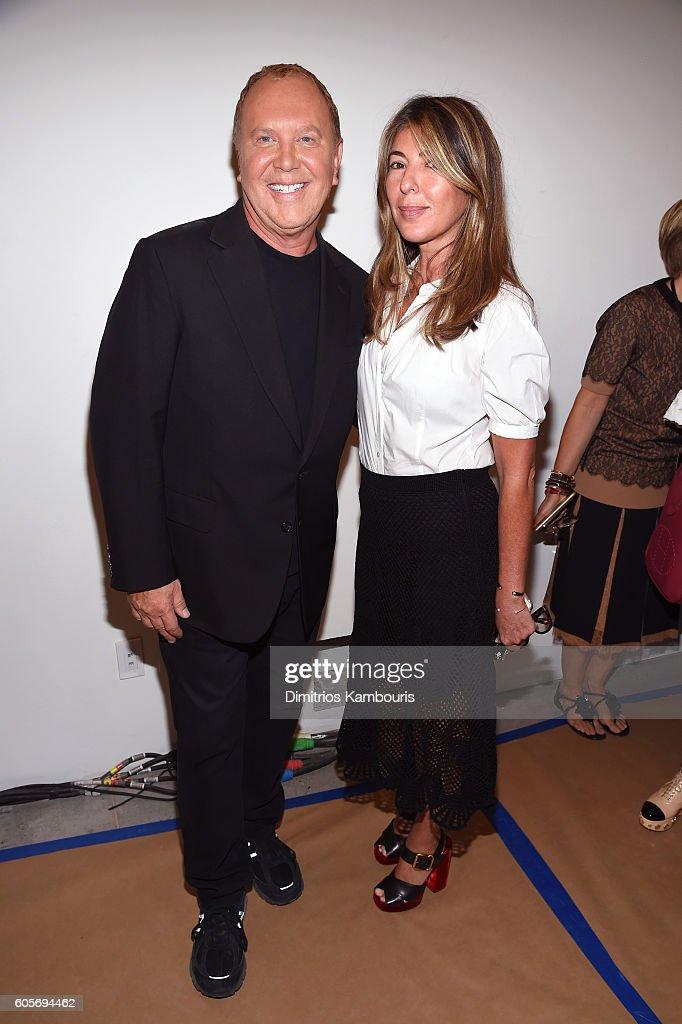 fashion designer michael kors 6nqw  Michael Kors and Nina Garc铆a backstage at the Michael Kors Spring 2017  Runway Show during New