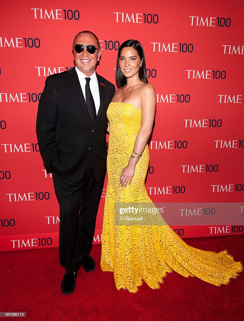 Michael Kors (L) and Olivia Munn attend the 2013 Time 100 Gala at Frederick P. Rose Hall, Jazz at Lincoln Center on April 23, 2013 in New York City.