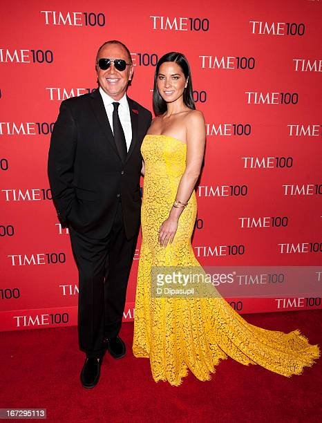 Michael Kors and Olivia Munn attend the 2013 Time 100 Gala at Frederick P Rose Hall Jazz at Lincoln Center on April 23 2013 in New York City