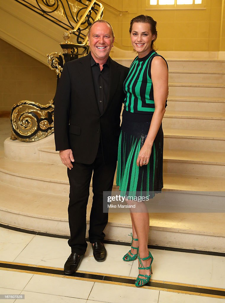 Michael Kors and Yasmin Le Bon attend a Vogue dinner hosted by Alexandra Shulman in honour of Michael Kors at Cafe Royal on April 25, 2013 in London, England.