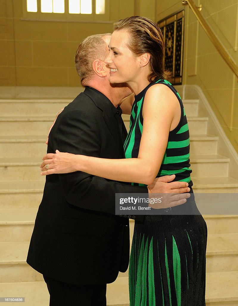 Michael Kors and Yasmin Le Bon attend the Alexandra Shulman and Vogue Dinner in Honour of Michael Kors at the Cafe Royal on April 25, 2013 in London, England.