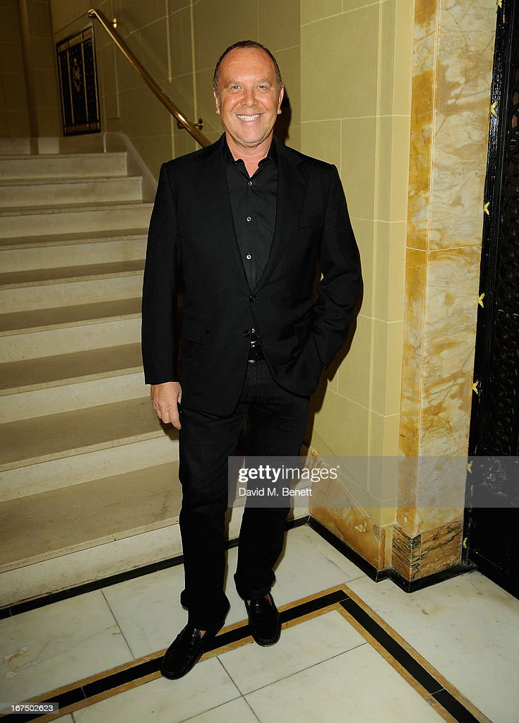 <a gi-track='captionPersonalityLinkClicked' href=/galleries/search?phrase=Michael+Kors+-+Fashion+Designer&family=editorial&specificpeople=4289231 ng-click='$event.stopPropagation()'>Michael Kors</a> attends the Alexandra Shulman and Vogue Dinner in Honour of <a gi-track='captionPersonalityLinkClicked' href=/galleries/search?phrase=Michael+Kors+-+Fashion+Designer&family=editorial&specificpeople=4289231 ng-click='$event.stopPropagation()'>Michael Kors</a> at the Cafe Royal on April 25, 2013 in London, England.