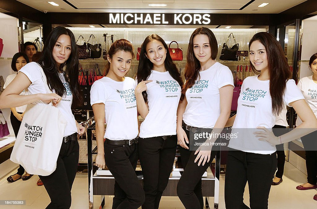 Michael Kors brand ambassadors attend Michael Kors World Food Day - Hong Kong at on October 16, 2013.