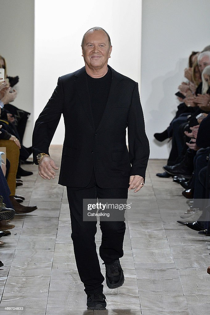 Michael Kors on the runway at the Michael Kors Autumn Winter 2014 fashion show during New York Fashion Week on February 12, 2014 in New York, United States.
