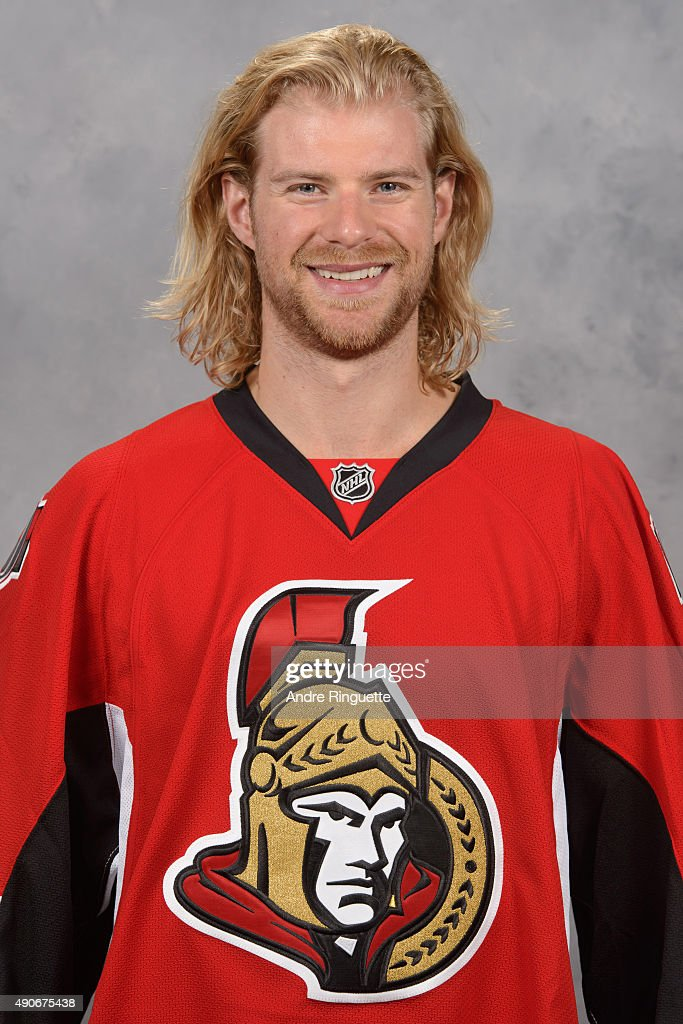 Michael Kostka of the Ottawa Senators poses for his official headshot for the 2015-2016 season on September 17, 2015 at Canadian Tire Centre in Ottawa, Ontario, Canada.