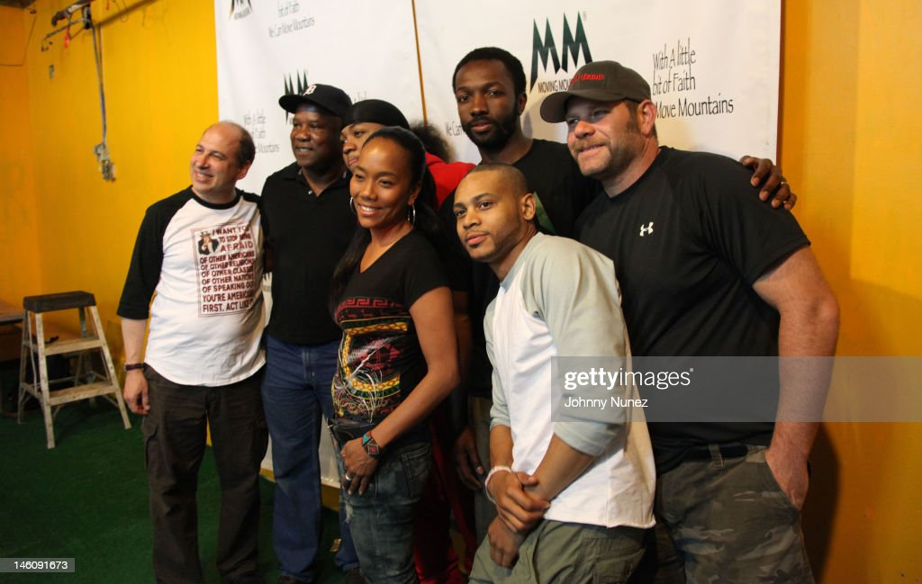 Michael Kostroff, <a gi-track='captionPersonalityLinkClicked' href=/galleries/search?phrase=Isiah+Whitlock+Jr.&family=editorial&specificpeople=657646 ng-click='$event.stopPropagation()'>Isiah Whitlock Jr.</a>, Julito McCullum, <a gi-track='captionPersonalityLinkClicked' href=/galleries/search?phrase=Sonja+Sohn&family=editorial&specificpeople=224865 ng-click='$event.stopPropagation()'>Sonja Sohn</a>, <a gi-track='captionPersonalityLinkClicked' href=/galleries/search?phrase=Jamie+Hector&family=editorial&specificpeople=666307 ng-click='$event.stopPropagation()'>Jamie Hector</a>, <a gi-track='captionPersonalityLinkClicked' href=/galleries/search?phrase=JD+Williams&family=editorial&specificpeople=2482866 ng-click='$event.stopPropagation()'>JD Williams</a> and Domenick Lombardozzi attend the Moving Mountains Celebrity Paintball Tournament at NYC Paintball And Laser Tag on June 9, 2012 in New York City.