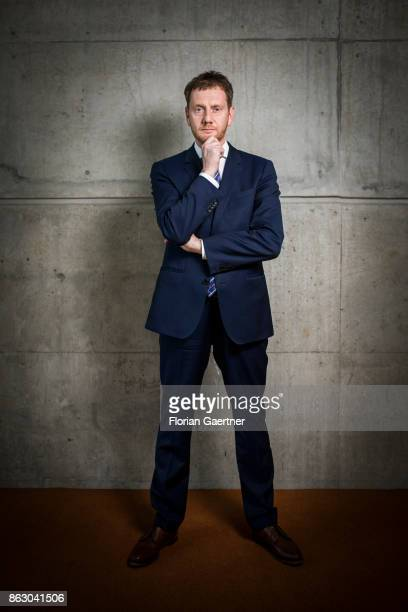 Michael Kretschmer Member of Christian Democratic Union of Germany and designated prime minister of Saxony poses for a photo on October 19 2017 in...
