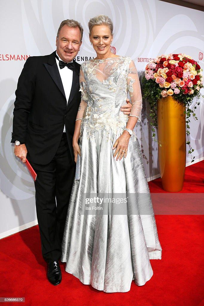 Michael Kubenz and Petra van Bremen attend the Rosenball 2016 on April 30, 2016 in Berlin, Germany.