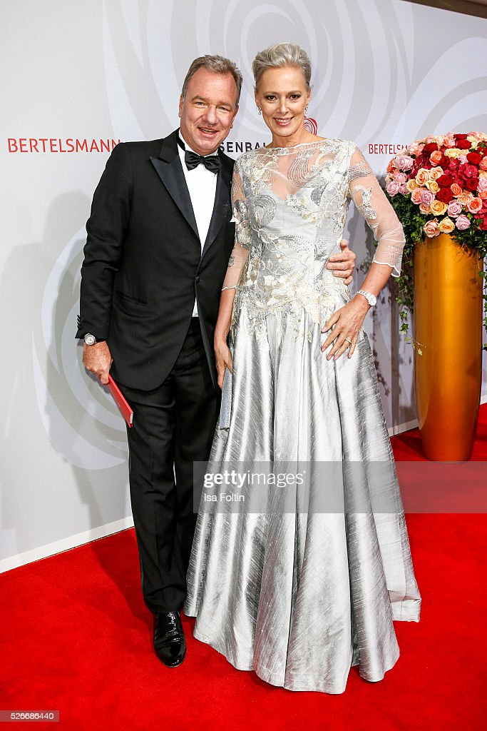 Michael Kubenz and Petra van Bremen attend the Rosenball 2016 on April 30, 2016 in Berlin, Germany.