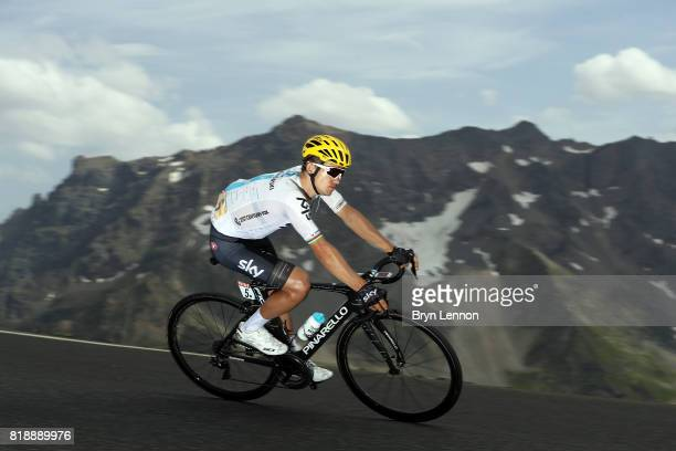 Michael Kwiatkowski of Poland and Team SKY descends the Col du Galibier on stage seventeen of the 2017 Tour de France a 183km road stage from La Mure...