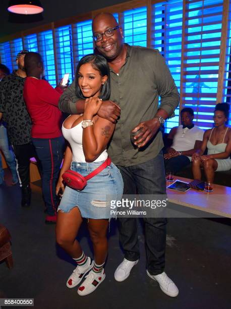 Michael Kyser and Bernice Burgos attend Baller Alert's Bowl With a Baller at Basement Bowl on October 5 2017 in Miami Florida