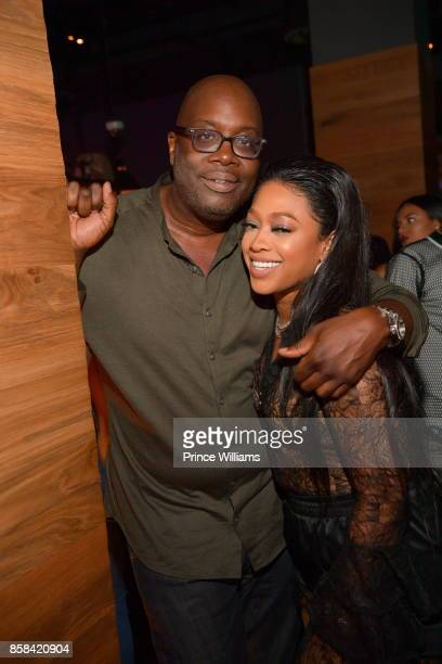 Michael Kyser and Trina attend Baller Alert's Bowl With a Baller at Basement Bowl on October 5 2017 in Miami Florida